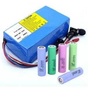 Lithium մարտկոց 18650 48V 12AH 48V 500W էլեկտրական հեծանիվ մարտկոց `BMS- ով