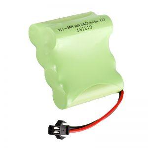 NiMH վերալիցքավորվող մարտկոց AA2400 6V Վերալիցքավորվող էլեկտրական խաղալիքների գործիքներ Մարտկոցի տուփ