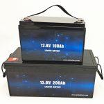 Deep Cycle LiFePO4 արևային մարտկոց 12V 100Ah / 200Ah գոլֆի սայլակի լիթիումի իոնային մարտկոց
