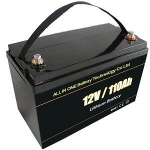 Կապարի թթու փոխարինող արեւային պահեստային մարտկոց 12V 110Ah lifepo4 լիթիումի մարտկոց