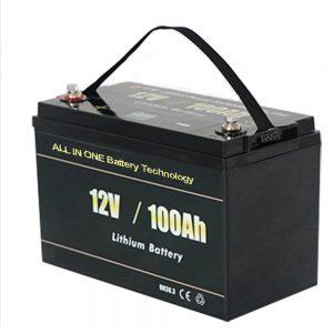 ԲՈԼՈՐ ՄԵԿՆ Ամենաապահով Solar RV 12v 100ah LiFePO4 լիթիումի մարտկոցների տուփ