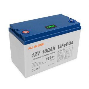 ԲՈԼՈՐ ՄԻ ՄԵԿ Տաք վաճառք Էներգետիկ արևային լիթիումային մարտկոցներ պահող ծրագրակազմ BMS հսկողություն վերալիցքավորվող խոր ցիկլ 12V 100Ah LiFePO4 մարտկոց