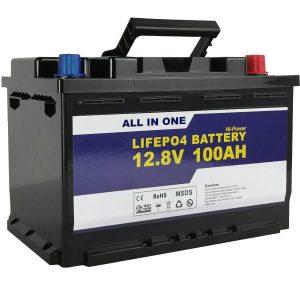 GEL / AGM փոխարինող Solar Power Storage մարտկոց 12v 100ah LifePo4 լիթիումի իոնային մարտկոց
