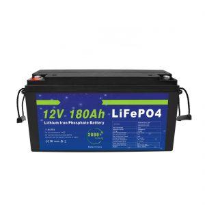 LiFePO4 լիթիումի մարտկոց 12V 180Ah արևային էներգիայի պահպանման համակարգերի համար ՝ էլեկտրական հեծանիվների համար