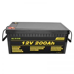 Ընտրովի էլեկտրական մեքենա 12V Lifepo4 մարտկոց 12.8v 200ah ՝ 2000 ցիկլի կյանքի տևողությամբ մարտկոցով