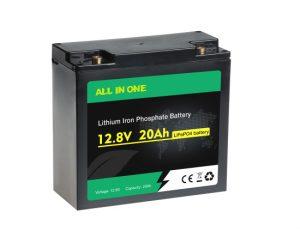 Վերալիցքավորվող Deep Cycle Lifepo4 12V 20AH Lithium ion Battery Pack OEM