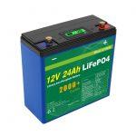 Արեգակնային խորը ցիկլ 24v 48v 24ah Lifepo4 մարտկոցների փաթեթ UPS 12v 24ah մարտկոց