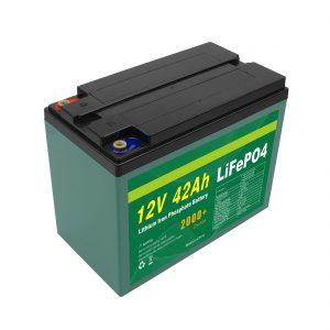 Սպասարկման հարմարեցված Solar 12v 40ah 42ah Lifepo4 Cell Lifepo4 մարտկոցների փաթեթ BMS- ով