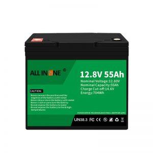 LiFePO4 մարտկոցների փոխարինում կապարաթթվային մարտկոցի համար 12V 55Ah