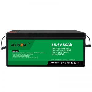 25.6V 80Ah անվտանգություն/երկար կյանք LFP մարտկոց RV/Caravan/UPS/Golf Cart 24V 80Ah