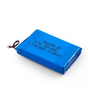 LiPO- ի վերալիցքավորվող մարտկոց 502236 3.7V 380mAH / 3.7V 760mAH /7.4V 380mAH