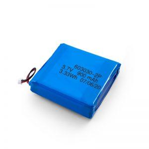 Պատվերով վերալիցքավորվող 3.7V 450 530 550 700 750 800 900Mah Li-Po Lipo մարտկոց