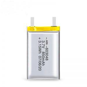 LiPO- ի վերալիցքավորվող մարտկոց 603048 3.7V 850mAh / 3.7V 1700mAH / 7.4V 850mAH