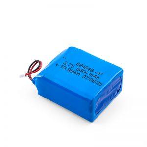 LiPO- ի վերալիցքավորվող մարտկոց 624948 3.7V 1800mAH / 3.7V 5400mAH