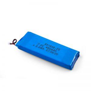 LiPO- ի վերալիցքավորվող մարտկոց 651648 3.7V 460mAh / 3.7V 920mAH / 7.4V 460mAH
