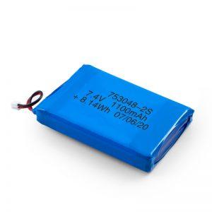 LiPO- ի վերալիցքավորվող մարտկոց 753048 3.7V 1100mAh / 7.4V 1100mAH / 3.7V 2200mAH