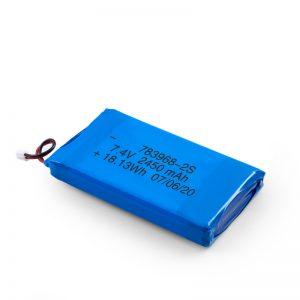 LiPO վերալիցքավորվող մարտկոց 783968 3.7V 4900mAH / 7.4V 2450mAH / 3.7V 2450mAH /