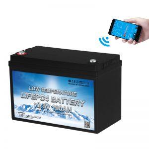 Temperatureածր ջերմաստիճանի LiFePO4 մարտկոց 12V 100AH