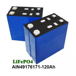 LiFePO4 Prismatic Battery 3.2V 120AH արևային համակարգի մոտոցիկլային UPS- ի համար