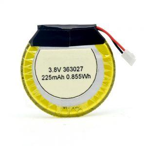 LiPO հարմարեցված մարտկոց 363027 3.7V 225mAH