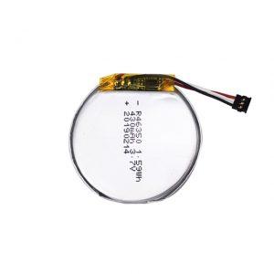 LiPO հարմարեցված մարտկոց 46350 3.7V 350mAH խելացի ժամացույցի մարտկոց 46350 փոքր բնակարան կլոր լիթիում պոլիմերային մարտկոց խաղալիքների համար